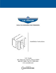 U.S. Cooler Installation Manual